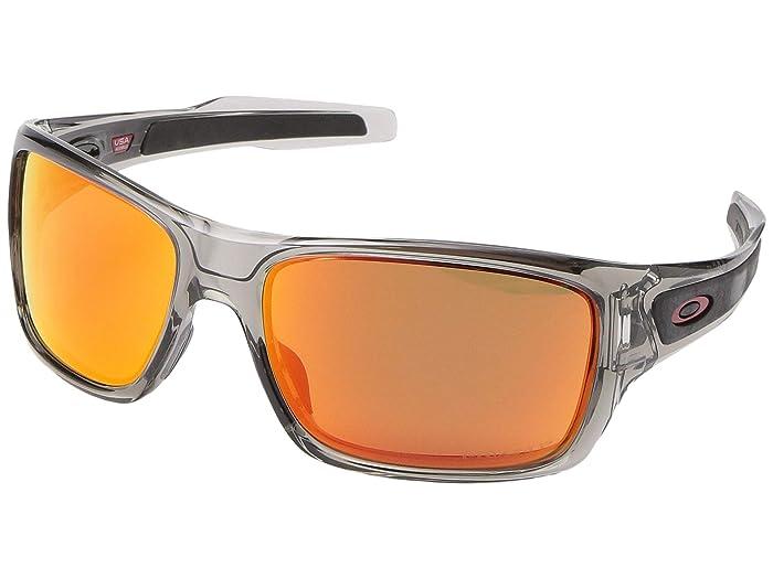 Oakley Turbine (Grey Ink w/ PRIZM Ruby Polarized) Sport Sunglasses