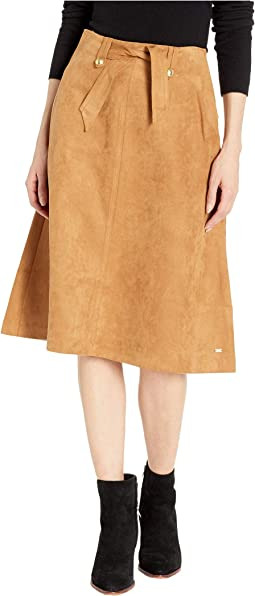 Midi Skirt Suede with Velcro® Magnet Buttons
