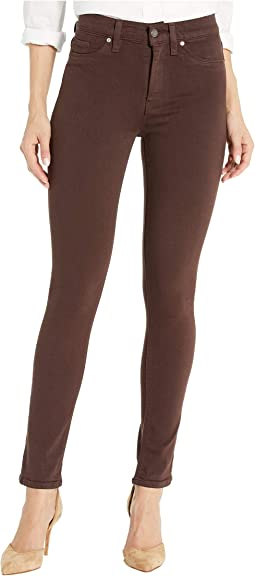 Barbara High-Waisted Ankle Skinny Jeans in Bark