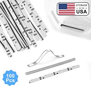 Aluminum Metal Nose Strip, 90mm Nose Bridge for Mask with Adhesive, DIY Handmade Accessories Nose Pad Nose Bridge Clip, 100pcs