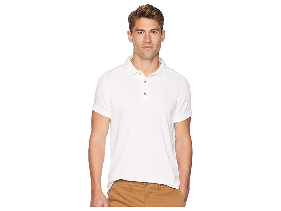 Toes on the Nose 2 Foot Putt Short Sleeve Polo (White) Men