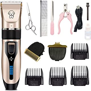 Mumoo Bear Pet Grooming Clipper Kits Low Noise Rechargeable Cordless Quiet Pet Groomer