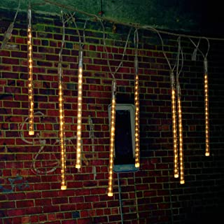 مصابيح الجنية بجودة عالية، مصابيح LED خارجية 30 سم نيزك دش المطر 8 أنابيب إضاءة عيد الميلاد مع قابس الولايات المتحدة الأمر...