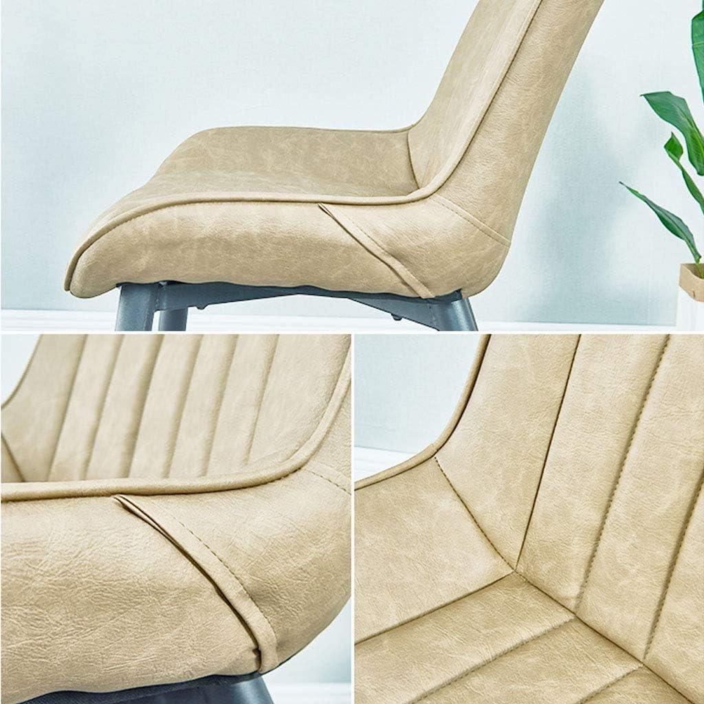 Chaise de Salle à Manger Nordique - Chaise de Loisir pour Dossier à la Maison - Chaise en Simili Cuir pour la Salle à Manger de la Maison et Le Salon - Max.150KG 1