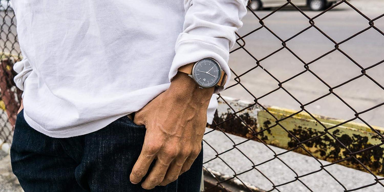 [シーエイチピーオー]CHPO 腕時計 40mm ハロルド ベトン グレー ブラウン レザー メンズ レディース 14229MM
