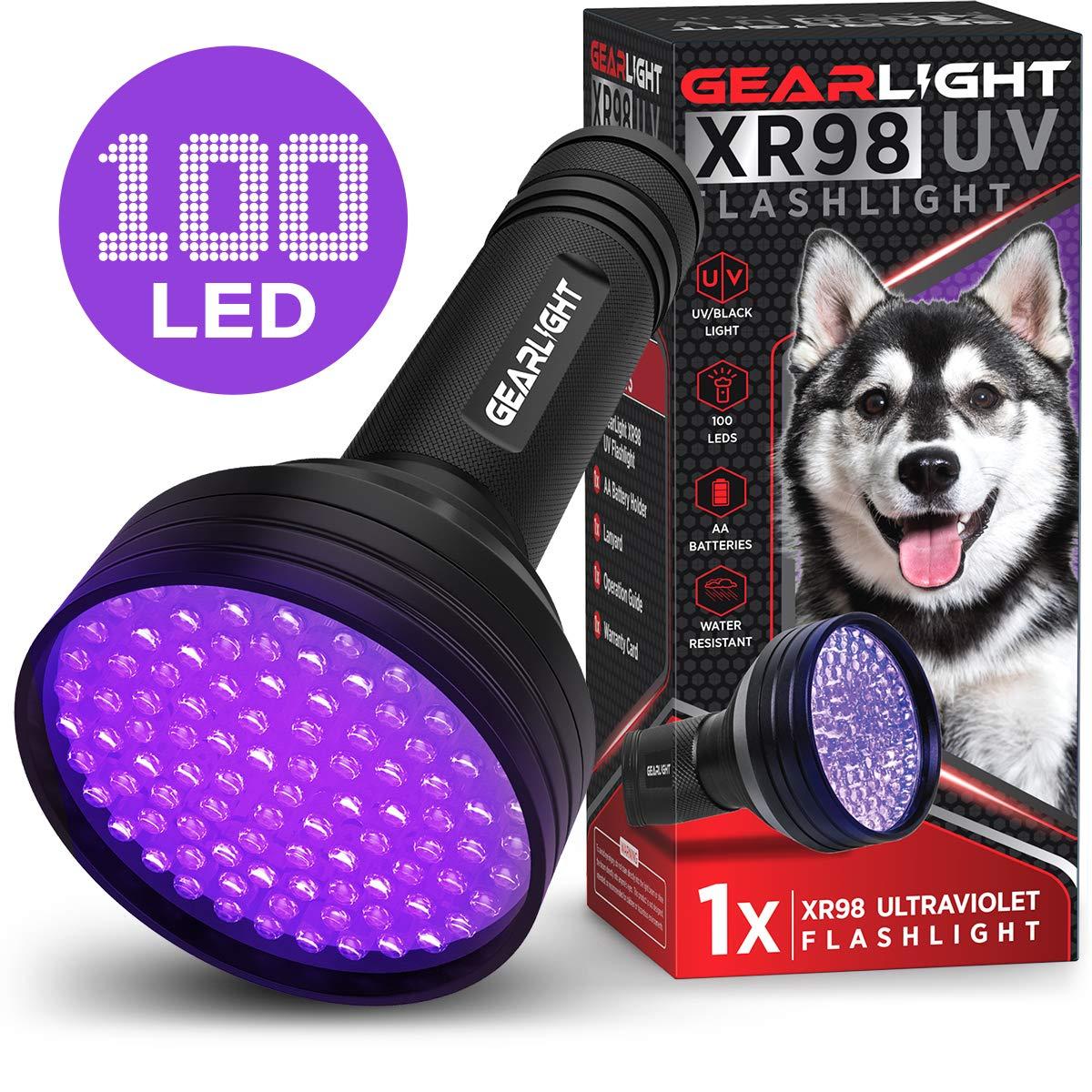 GearLight Black Light Flashlight XR98