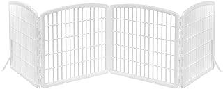 IRIS Indoor Plastic Pet Fence, White