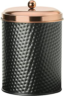 Amici Home Collection, 7CDI032R, Ashby Copper Metal Storage Canister, 70 oz, Large, Black/Gold