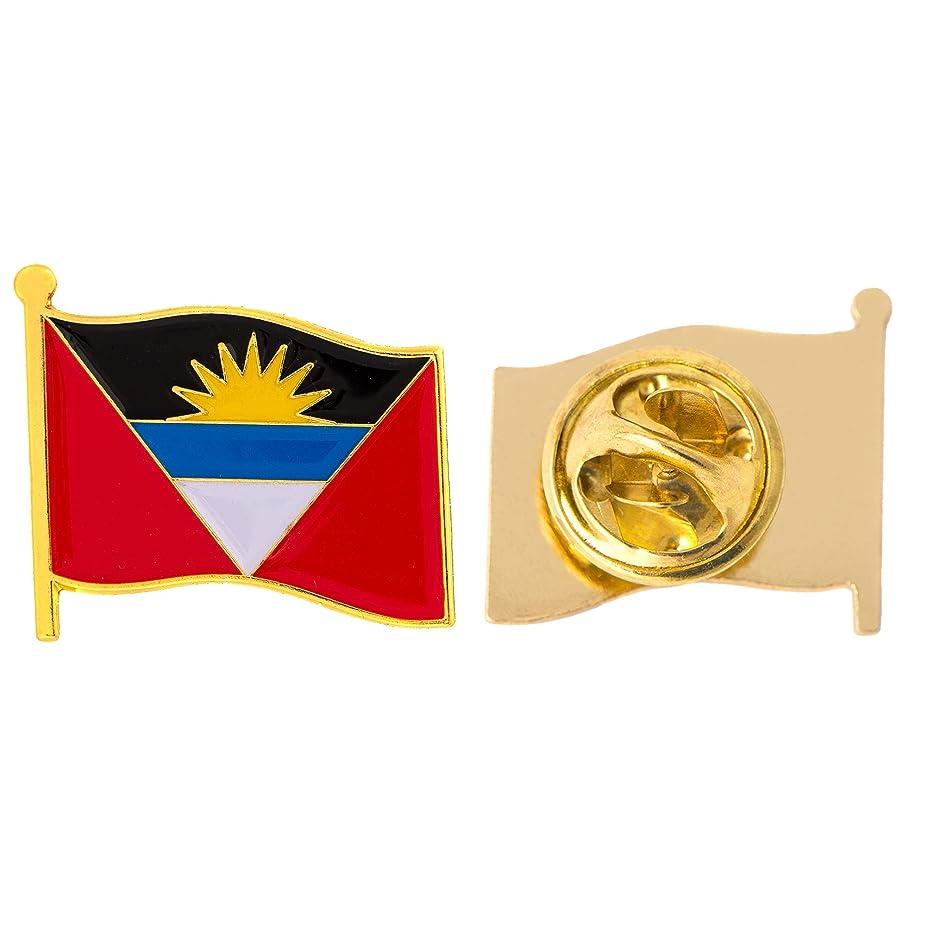 Antigua Country Flag Lapel Pin Enamel Made of Metal Souvenir Hat Men Women Patriotic (Waving Flag Lapel Pin)