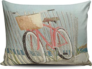 ZeDae Nantucket Bike Personalized Pillowcases Fancy Decorative Pillow Case Cover 20x26 Inches Pillowcase One Sided