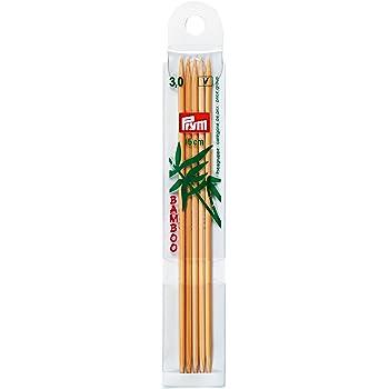 Bambus 15cm Stricknadeln Holz 5er-Set Stricknadel PRYM Strumpfstricknadeln