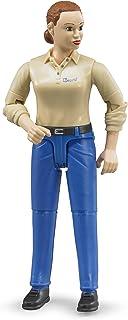 Bruder Woman, light Skin, Blue Jeans Toy Figure