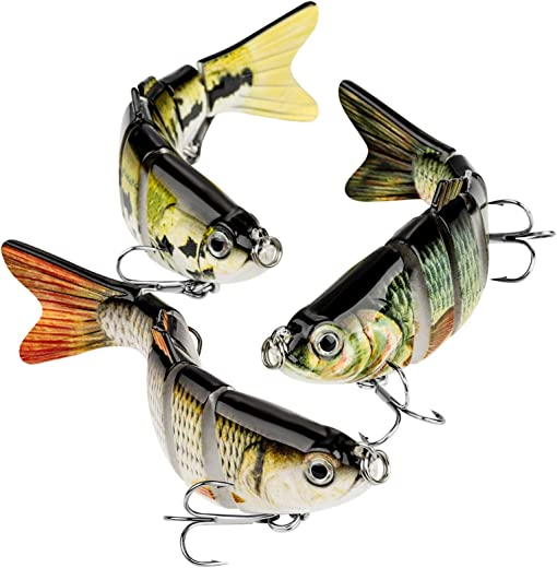 Bass Fishing Lure Topwater Bass Lures Fishing Lures Multi Jointed Swimbait Lifelike Hard Bait Trout Perch