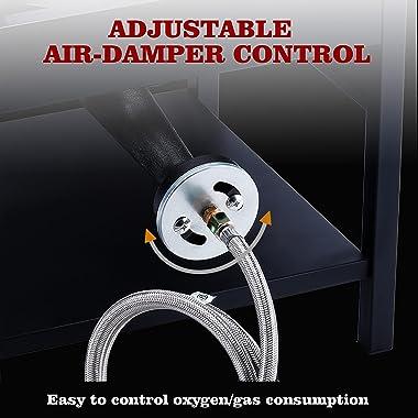 ARC USA, 4242S 200,000 BTU Outdoor High Pressure Cast Iron Propane Gas Cooker, Camping Stove, Adjustable 0-20 PSI CSA Regulat