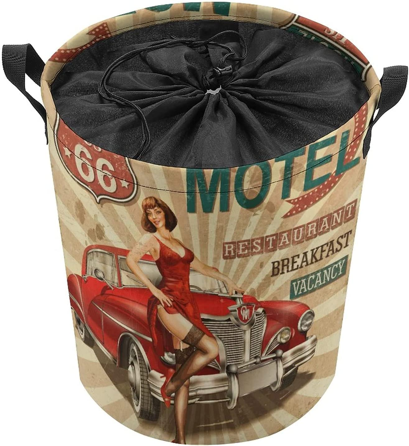 Vintage Sexy Lady mart Round Laundry Waterproof Bags Hamper Storage B Max 88% OFF