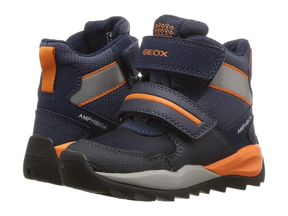 Geox Kids Orizont Boy Abx 11 (Toddler/Little Kid) (Blue/Orange) Boy