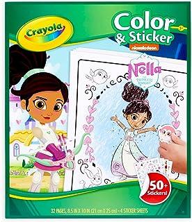 Crayola Color & Activity Book Nella The Princess Knight 50+ Stickers