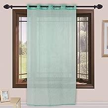 Homefab India 1 Piece Sheer Strips Window Curtain - 6 ft, Aqua Blue