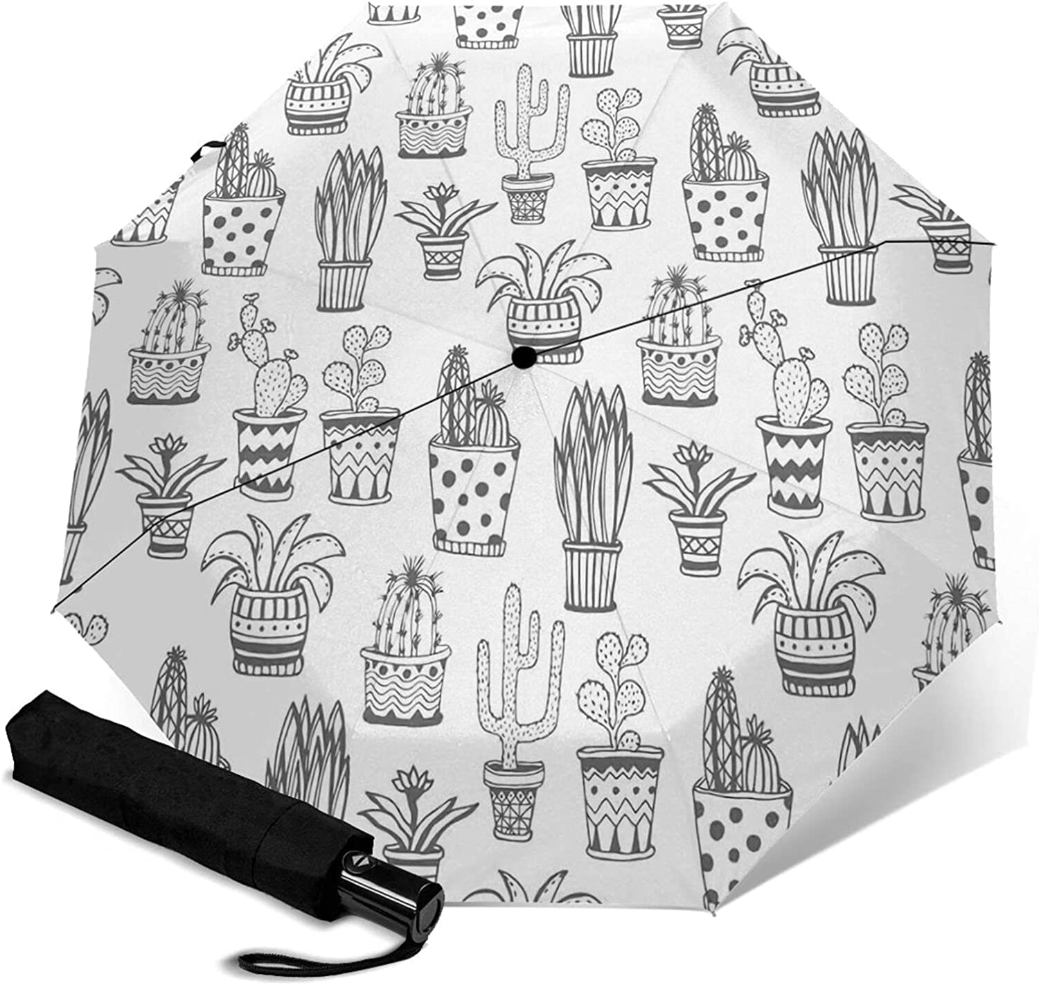 Cactus Be super welcome Plants Shipping included Print Automatic Three-Folding Waterproof Umbrella