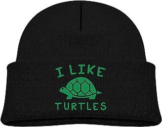 ADGoods Kids Children I Like Turtles Beanie Hat Knitted Beanie Knit Beanie For Boys Girls Gorra de béisbol para niños