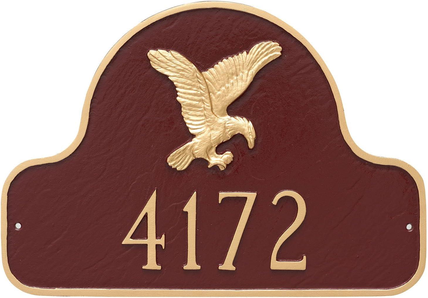 Montague Metal PCS-0085S1-W-TW Eagle Arch Address Sign Plaque, 1