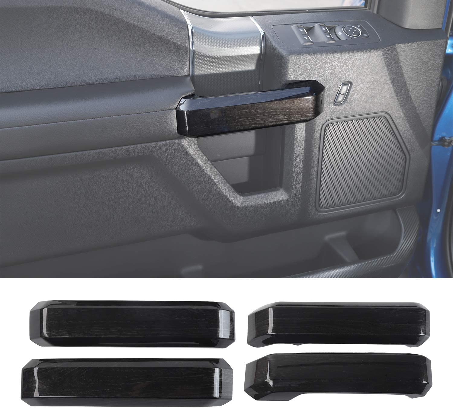 Car Inner Door Grab Handle Decoration Fresno Mall 2015 2 SEAL limited product 2016 Trim Cover for