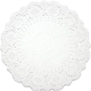 Lace Doilies Paper 250 Pack Set- Decorative Round Placemats Bulk, Table Runner, Cake Box Liners for Cakes, Desserts, Baked Treat Display, Ideal for Weddings, Tableware Decoration - White, 10.5 Inches