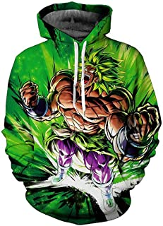 60d0c4be15fe Dragon Ball Hot New 2019 z Super 3D Goku Broly Vegeta Men's Hoodies  Sweatshirts