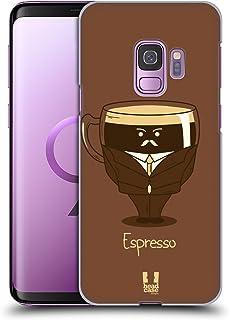 Head Case Designs Espresso Kaffee Persönlichkeiten Harte Rueckseiten Handyhülle Hülle Huelle kompatibel mit Samsung Galaxy S9