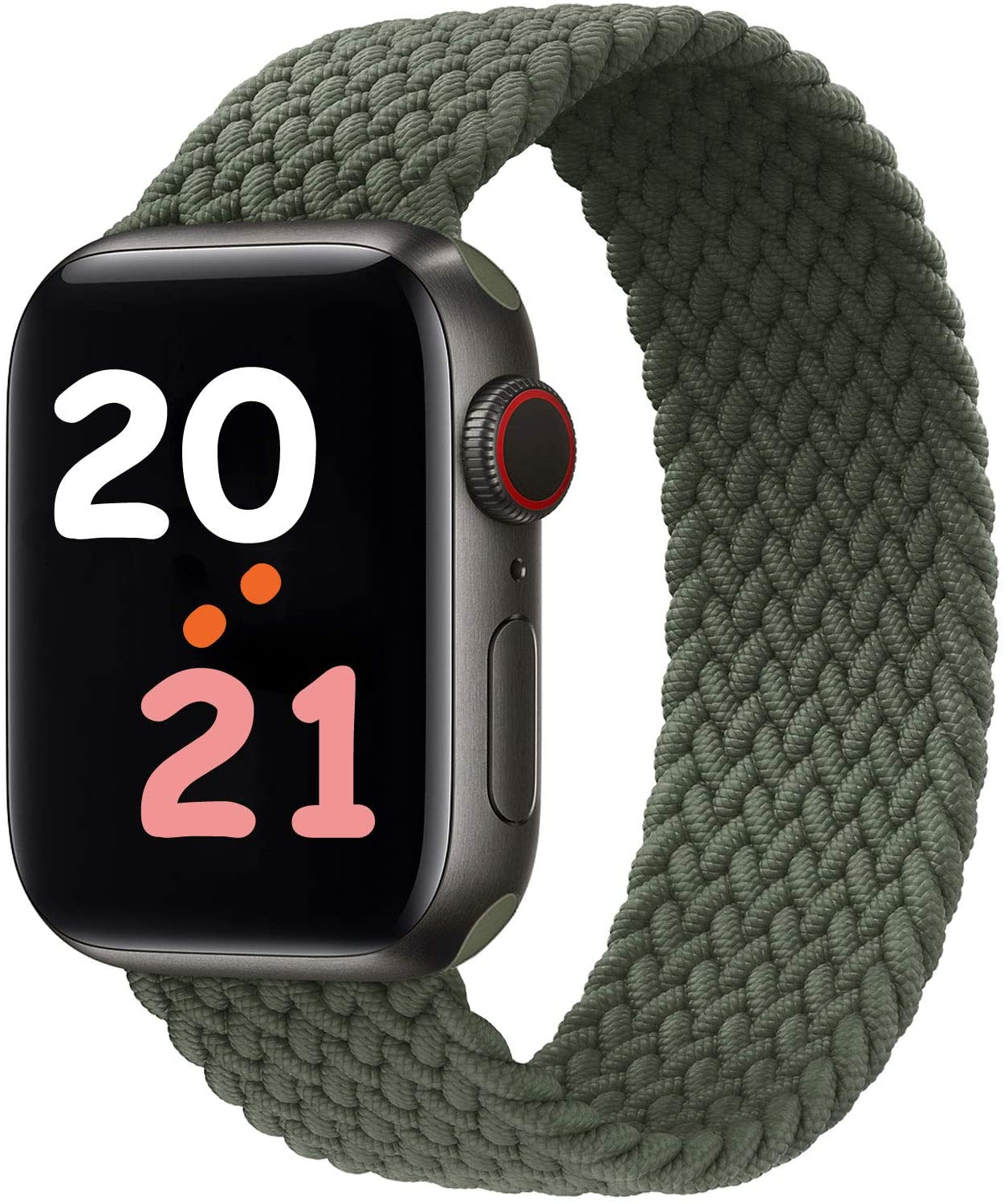 NUKELOLO Braided Solo Loop Strap Compatible with Apple Watch Bands 41mm 45mm 44mm 42mm 40mm 38mm, Soft Stretchable Sport Replacement Band for iWatch Series 7/6/SE/5/4/3/2/1