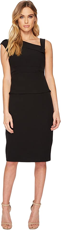 Adrianna Papell - Stretch Crepe Sheath Dress Origami Cowl Neck Sheath