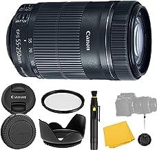 Sponsored Ad - Canon EF-S 55-250mm f/4-5.6 is STM Lens + UV Filter + Tulip Lens Hood + Lens Cleaning Pen + Lens Cap Keeper...