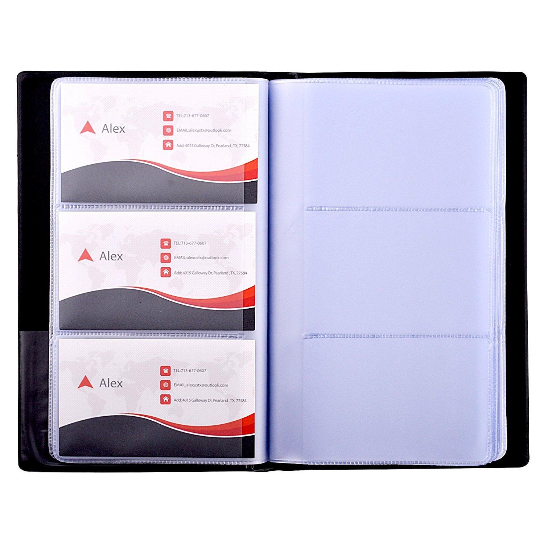 TOPTOMMY 名刺入れ カードホルダー 名刺ホルダー カードケース 大容量 240名収納可能 男女兼用 PU製 ビジネス用