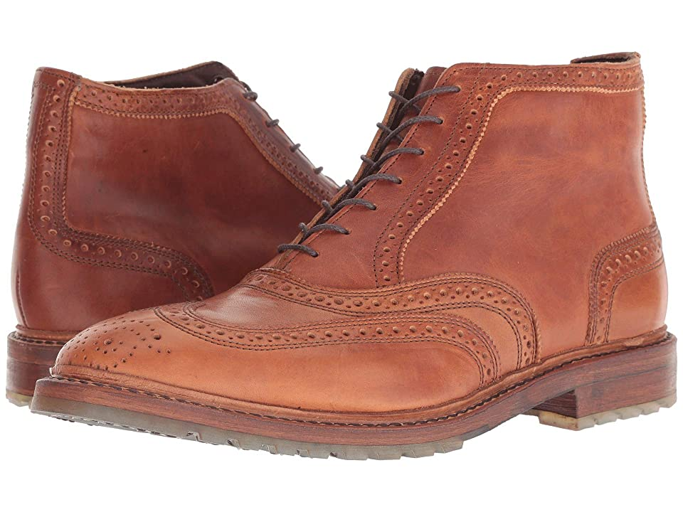 1920s Style Mens Shoes | Peaky Blinders Boots Allen Edmonds Stirling Tan Dublin Mens Lace-up Boots $444.95 AT vintagedancer.com