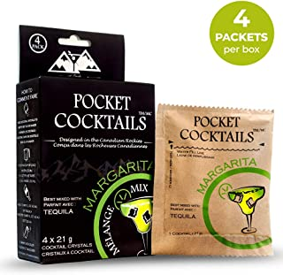 BarCountry Margarita Alcoholic Drink Mixes – All Natural, Low Carb Powdered Cocktail Mix for Camping and Travel (4 Packets per Box)