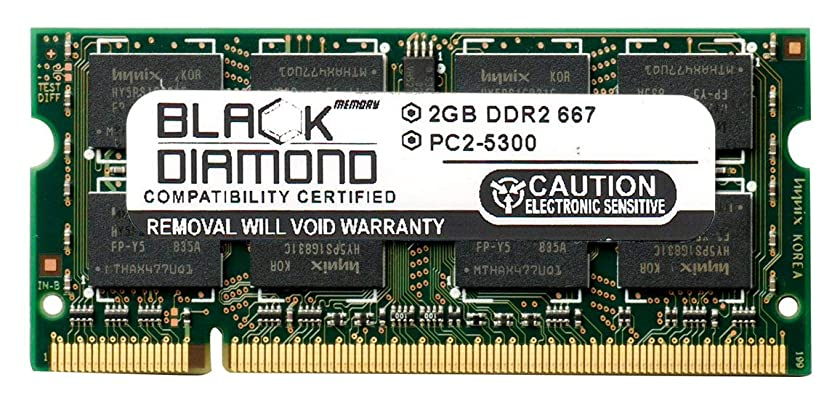 2GB RAM Memory for Dell Inspiron 1720 Black Diamond Memory Module DDR2 SO-DIMM 200pin PC2-5300 667MHz Upgrade