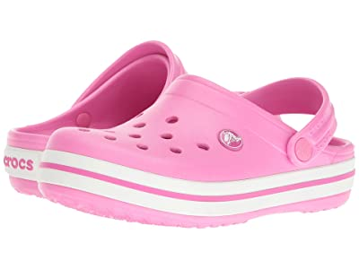 Crocs Kids Crocband Clog (Toddler/Little Kid) (Party Pink) Kids Shoes