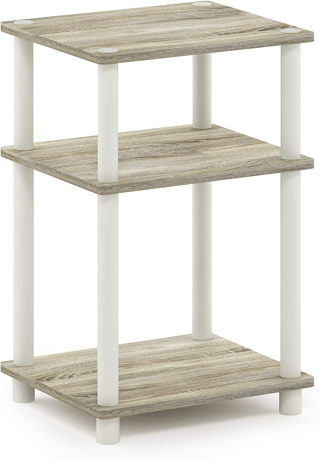 FURINNO Just Directly managed store 3-Tier Courier shipping free shipping End Table 1-Pack Oak White Sonoma