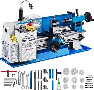 EsportsMJJ Drillpro Mini Drehbank Maschine Holzarbeiten Diy Drehbank Set Mit Dc 24V Netzteil Metallabdeckung