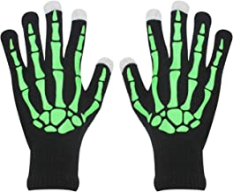 Halloween Party Skeleton Gloves Skull Fancy Costume Touchscreen Knit Golves Unisex Adult for Women Men
