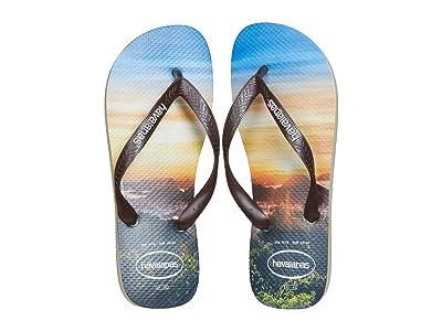 Havaianas Hype Flip Flops (Sand Grey) Men