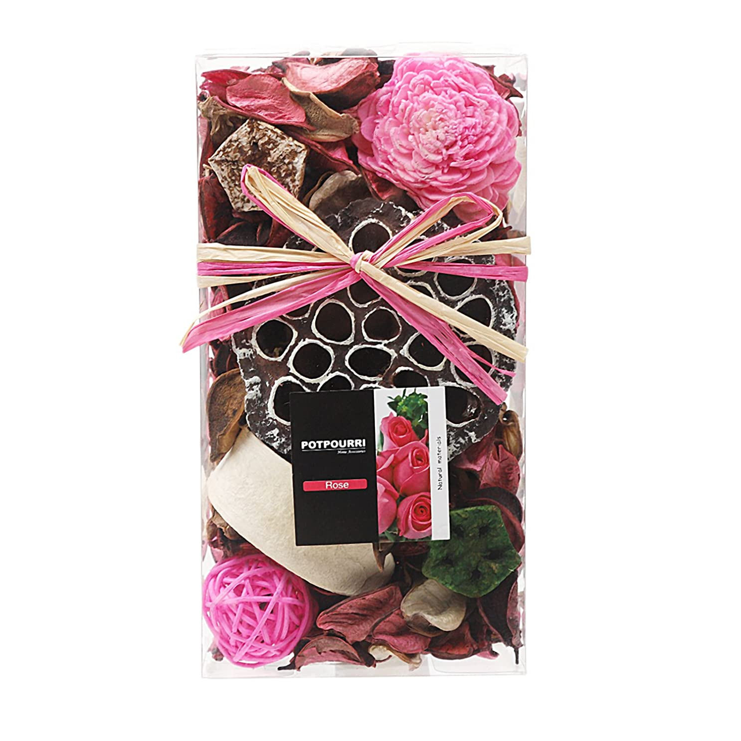 オーブンまぶしさ成功するQingbei Rina ポプリ ピンク 200g バラのポプリ ギフト 手作りの自然素材