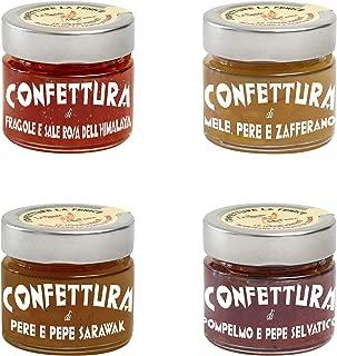 Caja 4 mermeladas gourmet, solo fruta italiana, selección gourmet, Spezie delle Fenice