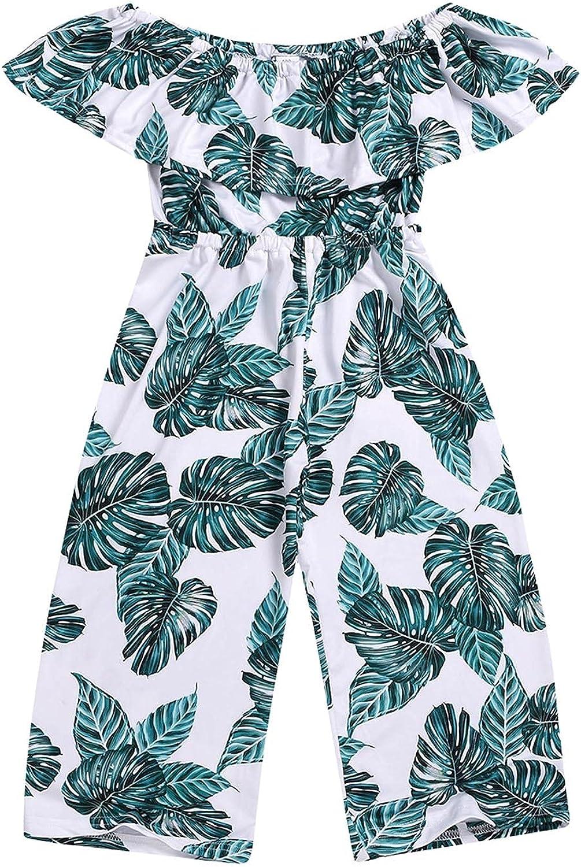 autumn winter Summer Store Girls Off With Leaf Japan Maker New Shoulder Jumpsuit Print