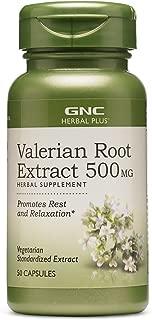 GNC Herbal Plus Valerian Root Extract 500 MG,50 servings