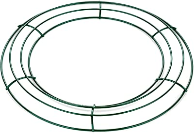 Fomgeely Wire Wreath/Garland Frame, Metal Wire Wreath Wire Frame, DIY Handmade Wreath Making Supplies for Wall Decor Wreath Rings (Green, 14 Inch, 12 Inch, 8 Inch, 10 Inch)