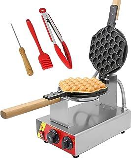 CGOLDENWALL Bubble Waffle Gaufrier Machine Électrique 0-300°C Réglage de la Température Minuterie 0-5 Minutes Anti-adhésiv...