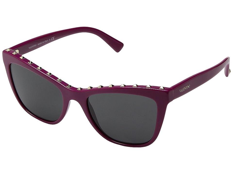 Valentino 0VA4022 (Fuchsia/Dark Smoke) Fashion Sunglasses