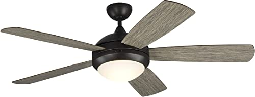 """wholesale Monte Carlo 5DISM52AGPD Discus Classic Smart 52"""" Ceiling Fan with LED Lights and Remote lowest Control, 3 Blades, Aged popular Pewter online"""
