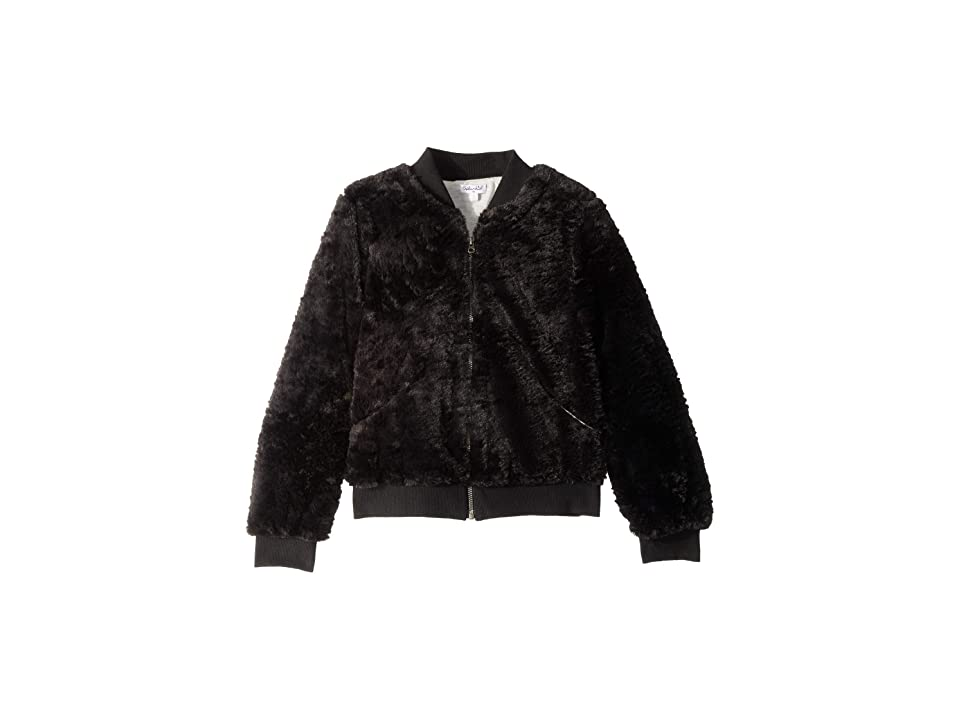 Splendid Littles Grammercy Faux Fur Jacket (Big Kids) (Black) Girl
